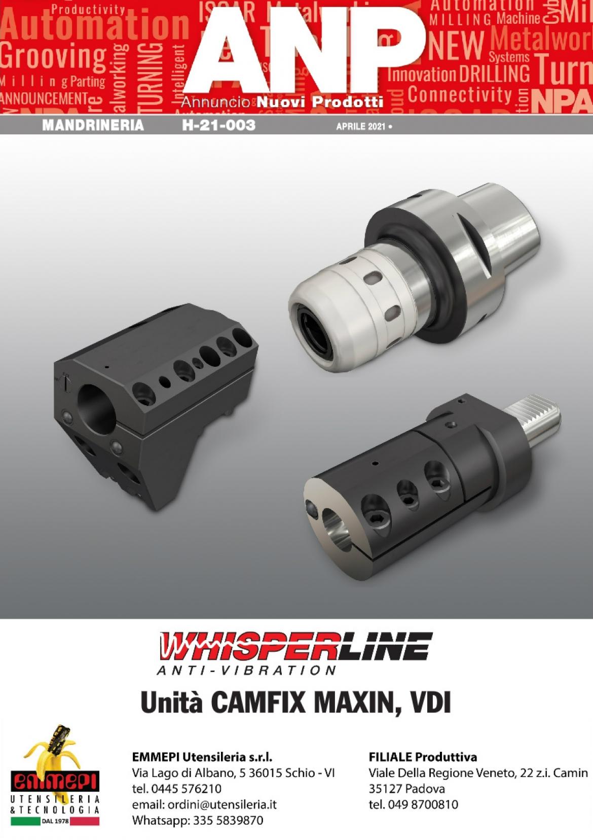 Nuovi prodotti Iscar MANDRINERIA. CAMFIX, VDI e con bussola