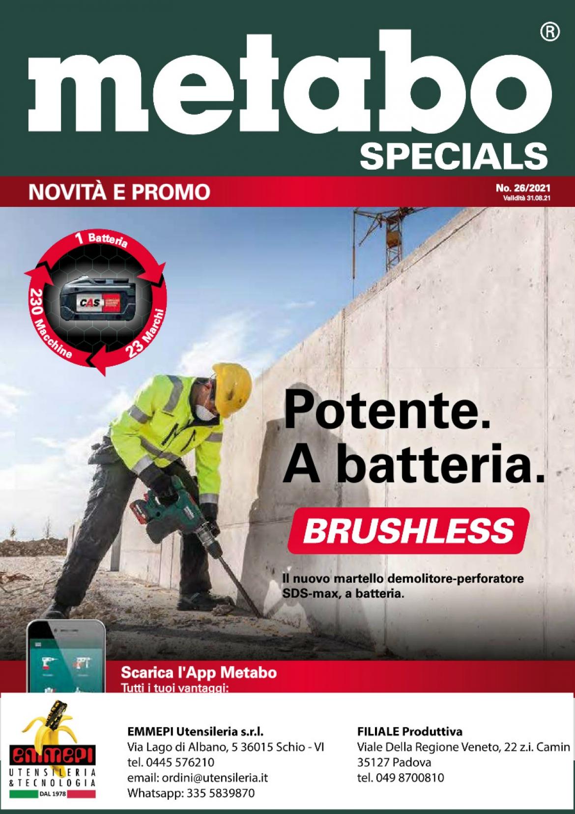 Novità e Promo. Martello demolitore-perforatore <br /> <h5>scadenza 31/08/2021</h5>