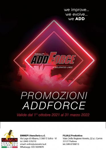 PROMOZIONE TUNGALOY: ADDFORCE <br /> <h5> Scadenza: 31/03/2022 </h5>