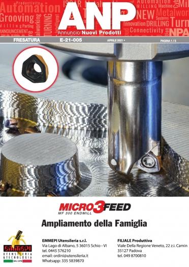 Nuovi prodotti Iscar FRESATURA. MICRO 3-FEED