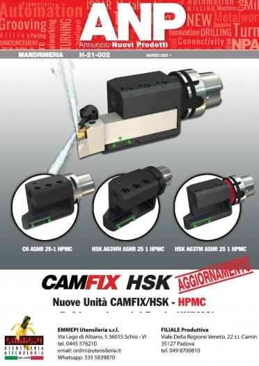 Nuovi prodotti Iscar MANDRINERIA. CAMFIX HSK